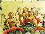 Mestre Ata�de: Anjos m�sicos, detalhe do teto de S�o Francisco