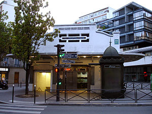 Paris Métro Line 3bis - The Saint-Fargeau station on Paris Métro line 3bis