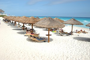 A beach in Cancun, Mexico