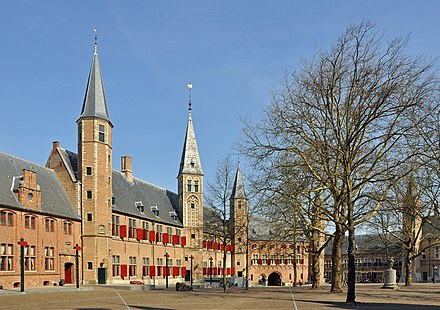 The States of Zeeland are located in a former abbey in Middelburg. Middelburg Abdij R01.jpg