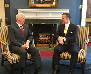 Eric Greitens - Greitens meeting with Vice President Mike Pence, January 2017