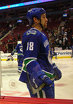 Mike Weaver joined the Canucks for the 2007–08 NHL season and finished the  year with one assist in his 55 games. fe15da871