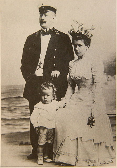 Young Sergei with his parents Mikhail and Julia Eisenstein