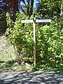 Milepost on cycle track at Cults - geograph.org.uk - 802222.jpg