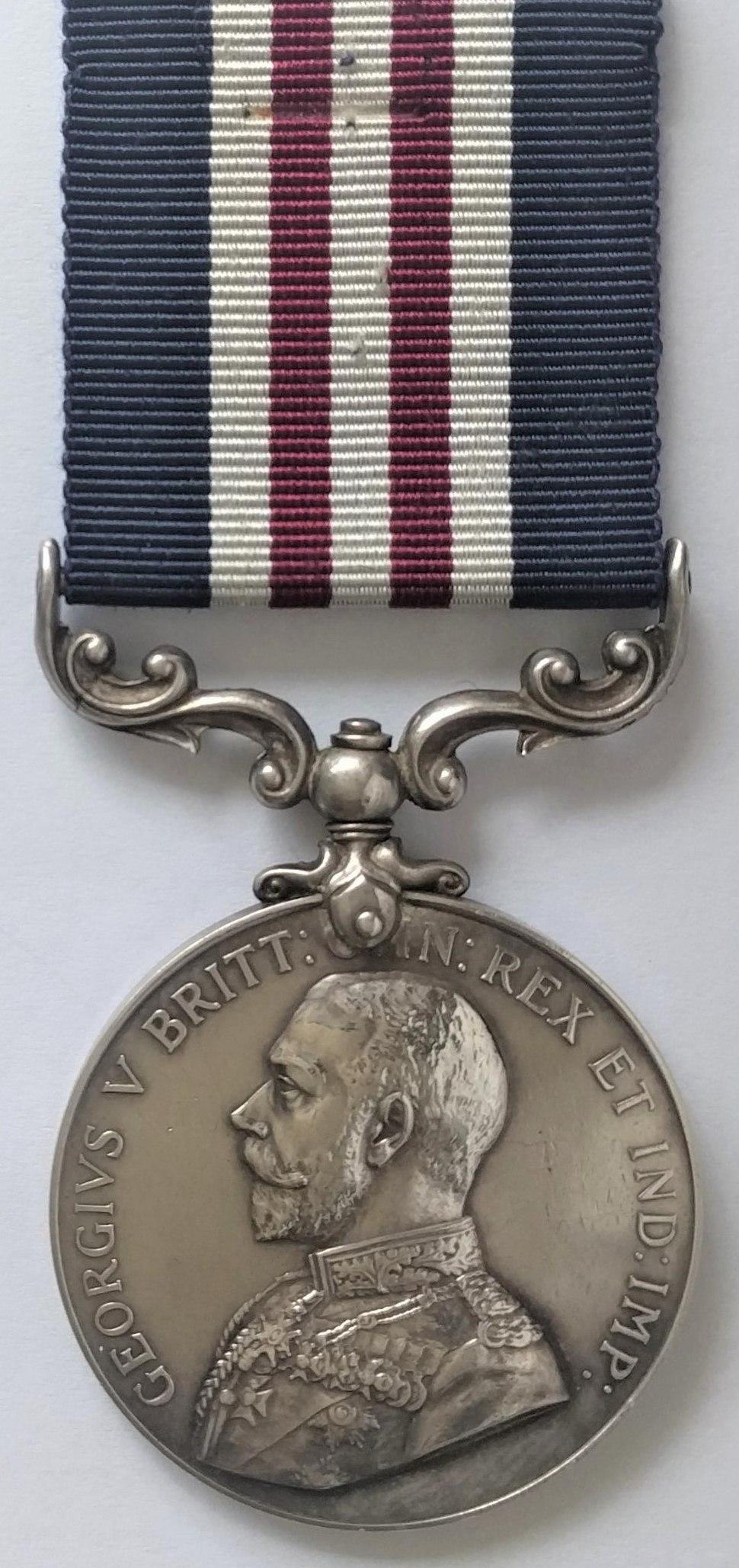 Military Medal, George V version (Obverse)