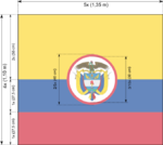 Military flag of Colombia (construction sheet).png