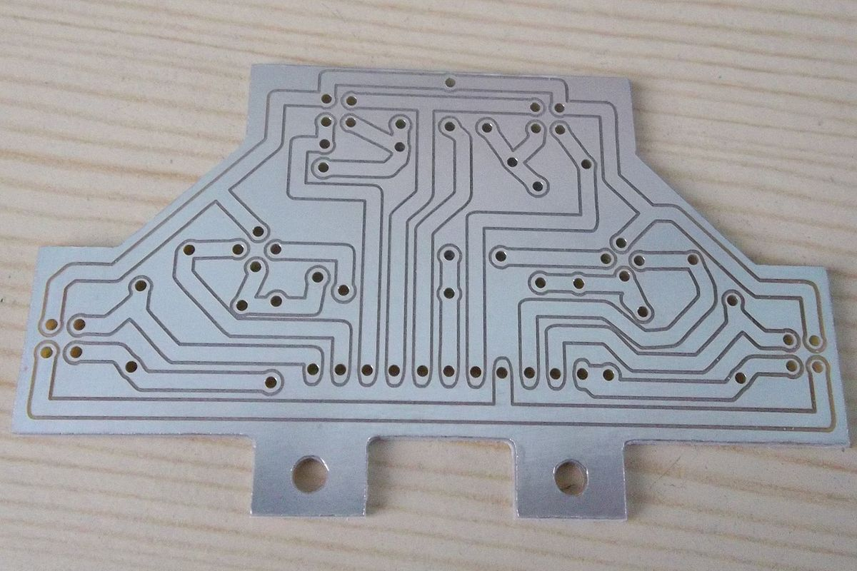 Printed Circuit Board Milling Wikipedia Holes Are Drilled In A Sample At Positions Required For