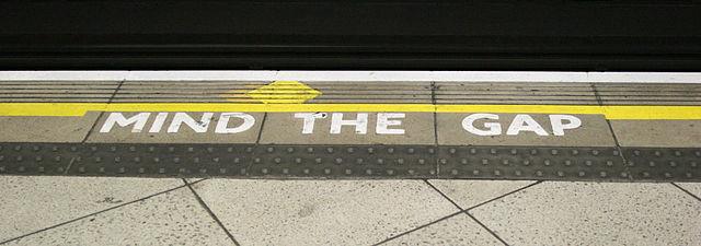 Mind the Gap - wikimedia
