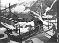 Miners riding railroad cars into unidentified mine, Shoshone County, Idaho, circa 1920 (AL+CA 1511).jpg