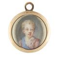 Miniatyrporträtt av Gustav IV Adolf (1778-1837) som barn, ca 1783 - Livrustkammaren - 98918.tif