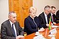 Ministru prezidents Valdis Dombrovskis tiekas ar Lietuvas prezidenti Daļu Grībauskaiti (7365223798).jpg
