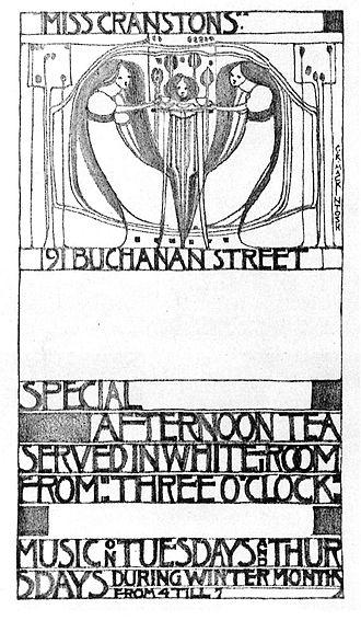 Catherine Cranston - Poster design by Charles Rennie Mackintosh.