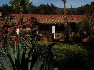 """San Antonio de Pala Asistencia - Pala Mission's """"Centre Garden."""""""