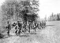 Mitrailleure marschieren mit ihrem Material in den Stellungsraum - CH-BAR - 3241251.tif