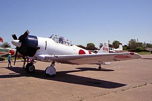 Tora! Tora! Tora! - The North American T-6 Texan stood in for the Mitsubishi A6M Zero as there were no airworthy types at that time. Only Zeros from the carrier Akagi were depicted, identifiable by the single red band on the rear fuselage.