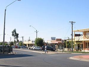 Moama - Main street looking north
