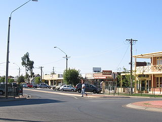 Moama Town in New South Wales, Australia