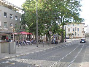 Darmstadt-Eberstadt - The place of Modaubrücke.