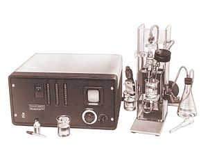 Cytometry - Image: Model A COULTER COUNTER from Advertisement