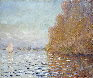 Argenteuil Basin with a Single Sailboat