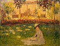 Monet - Femme assise dans le jardin (1876).jpg