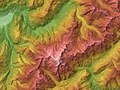 Mont Blanc Relief Map, SRTM-1.jpg
