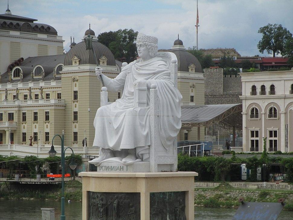 Monument of Iustinianus I in Skopje