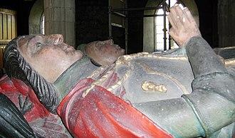 Reginald Corbet - Effigy of Sir Robert Corbet, Reginald's father, in St Bartholomew's church, Moreton Corbet.
