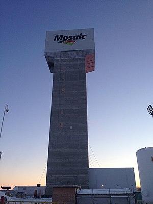 The Mosaic Company - K3 North Shaft headframe. Esterhazy, Saskatchewan