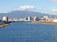 Mount Ashitaka and Kano River 20101121.jpg