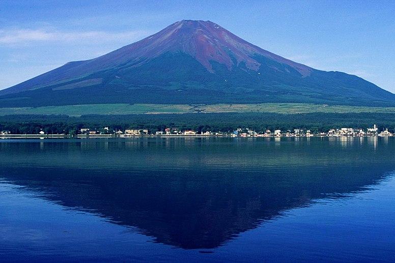 Mount Fuji from Lake Yamanaka  1995-7-30