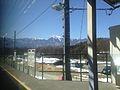 Mount Kaikomagatake from train of Chuo Main Line at Nagasaka Station.jpg