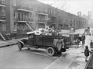 Verdun, Quebec - Moving day on 4th avenue, 1938