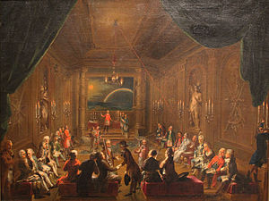 Libretto of The Magic Flute - A Masonic lodge meeting of Mozart's day, once thought to portray Mozart's own lodge; see Mozart and Freemasonry for discussion.