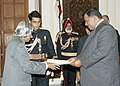 Mr. Jairam Ronalnd Gajraj High Commissioner of Guyana presented his credentials to the President Dr. APJ Abdul Kalam at Rashtrapati Bhavan on 8th December, 2005.jpg