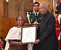Ms. Snehlata Nath received the Nari Shakti Puraskar award from the President of India in Delhi.jpg