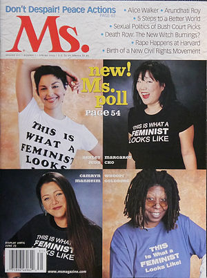 Camryn Manheim - Manheim (lower left) on the Spring 2003 cover of Ms. magazine