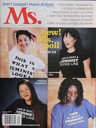 Camryn Manheim - Manheim (lower left) on the Spring 2003 cover of Ms. magazine