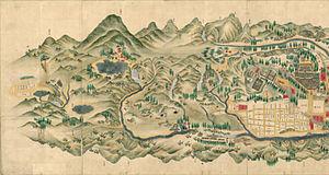 Kantō region - Map of Mt. Nikkō, in the Kantō region