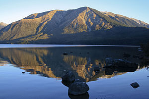 Mount Robert - Pourangahau / Mount Robert viewed from St Arnaud across Lake Rotoiti