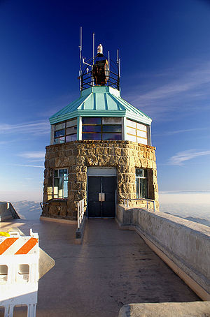 Mount Diablo meridian - Summit beacon tower atop Mt. Diablo. The initial point marker lies within this tower.