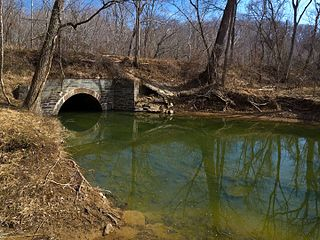 Muddy Branch tributary of the Potomac River in Maryland, United States
