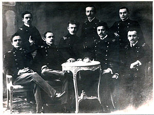 Mullanur Waxitov - Mullanur Vakhitov in St. Petersburg Polytechnic Institute (Vakhitov fourth from left)