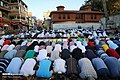 Muslims perform the Eid Al-Adha prayer at Eyup Sultan Mosque 2019-08-11 09.jpg