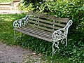 Myddelton House, Enfield, London ~ memorial bench 02.jpg