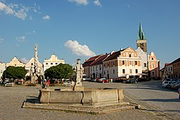 Town square in Telč