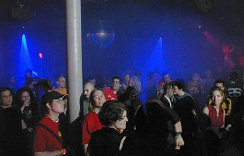 Rave crowd shot from NASA Rewind in NYC 04-03-04.
