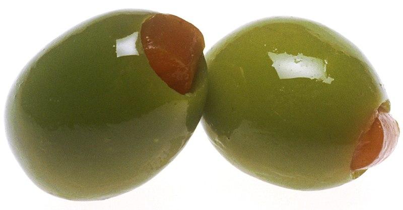 Aceitunas, que dan nombre al color verde oliva.