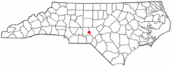 Location of Candor, North Carolina