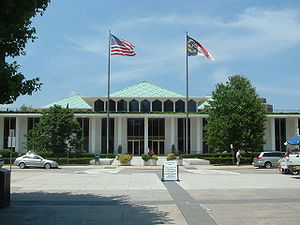 Government of North Carolina - The North Carolina State Legislative Building in Raleigh